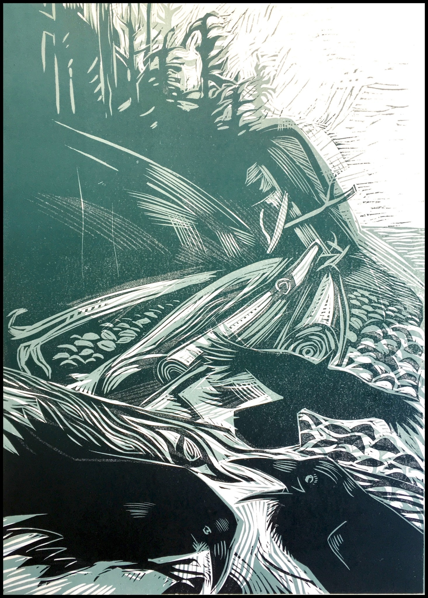 Haida Gwaii # 3 - North Beach (framed)-1