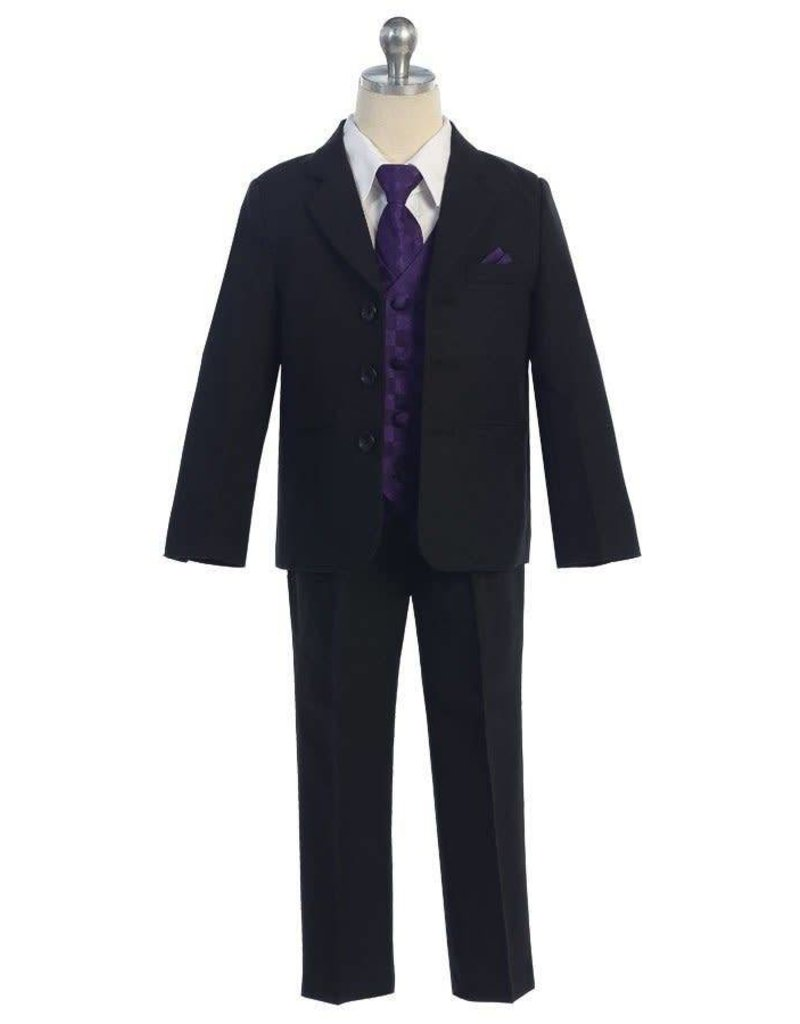 Calla Collection USA INC. Calla Collection 100% Polyester 5Pc Boy's Suit w Colored Vest S5006, Color: ?, Size: ?