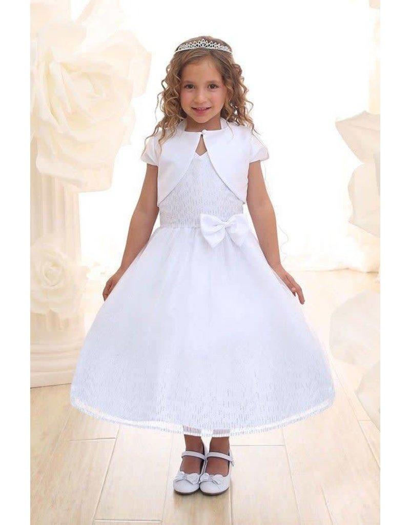 Calla Collection USA INC. Calla Collection 100% Polyester Glitter Mesh Dress w Bolero KD2456A, Color: ? Size: ?