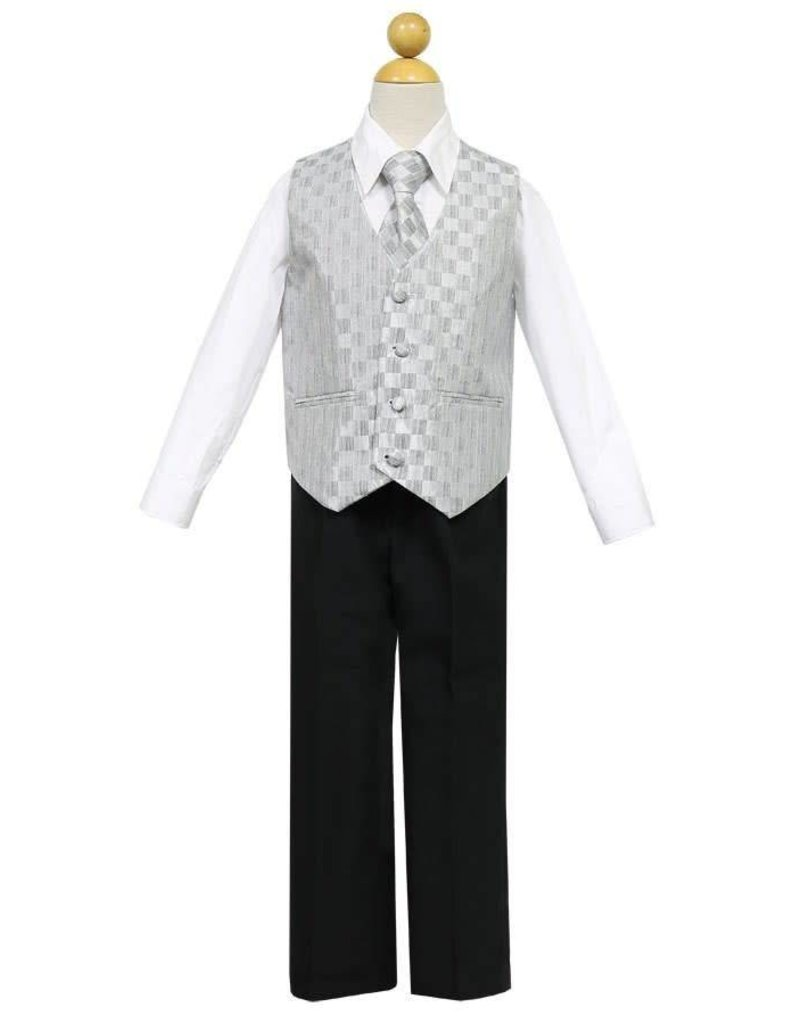 Calla Collection USA INC. Calla Collection 2 Button Suit w Color Vest S5007, Color: ?, Size: ?