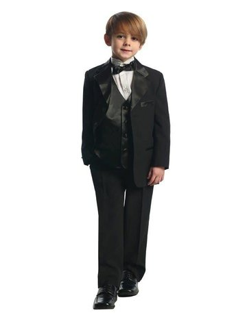 Calla Collection USA INC. Calla Collection Big Size Tuxedo w Vest T4003-5, Color: Black, Size: ?