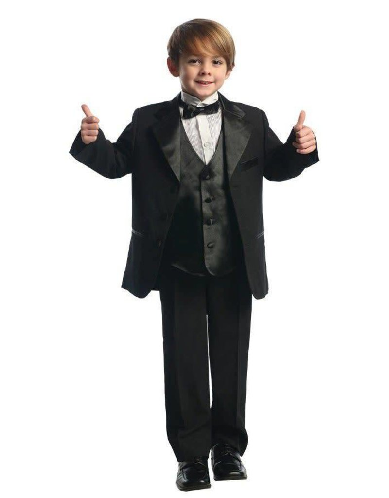Calla Collection USA INC. Calla Collection Big Size Tuxedo w Vest T4003-5, Color: Black, Size: ?