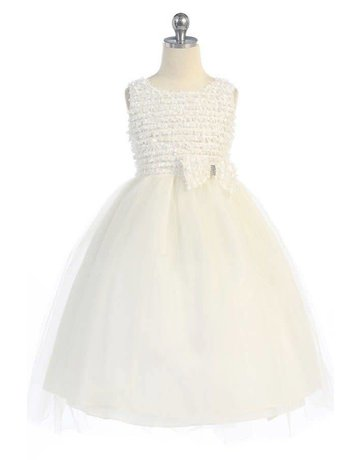 Calla Collection USA INC. Calla Collection EMB Small Ruffle on net Tull Dress D-738, Color: ?, Size: ?