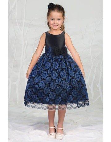 Calla Collection USA INC. Calla Collection Satin Bodice & Lace Overlay Skirt D-748, Color: ?, Size: ?