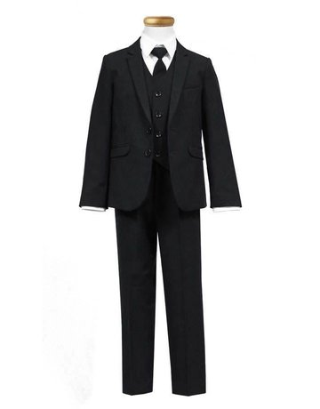 Calla Collection USA INC. Calla Collection 100% Polyester Slim Fit 5Pcs Suit S5005-2, Color: Black, Size: ?