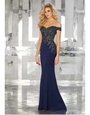 Mother of the Bride Mori Lee Mother of the Bride 71616, Color: Navy, Size: 14