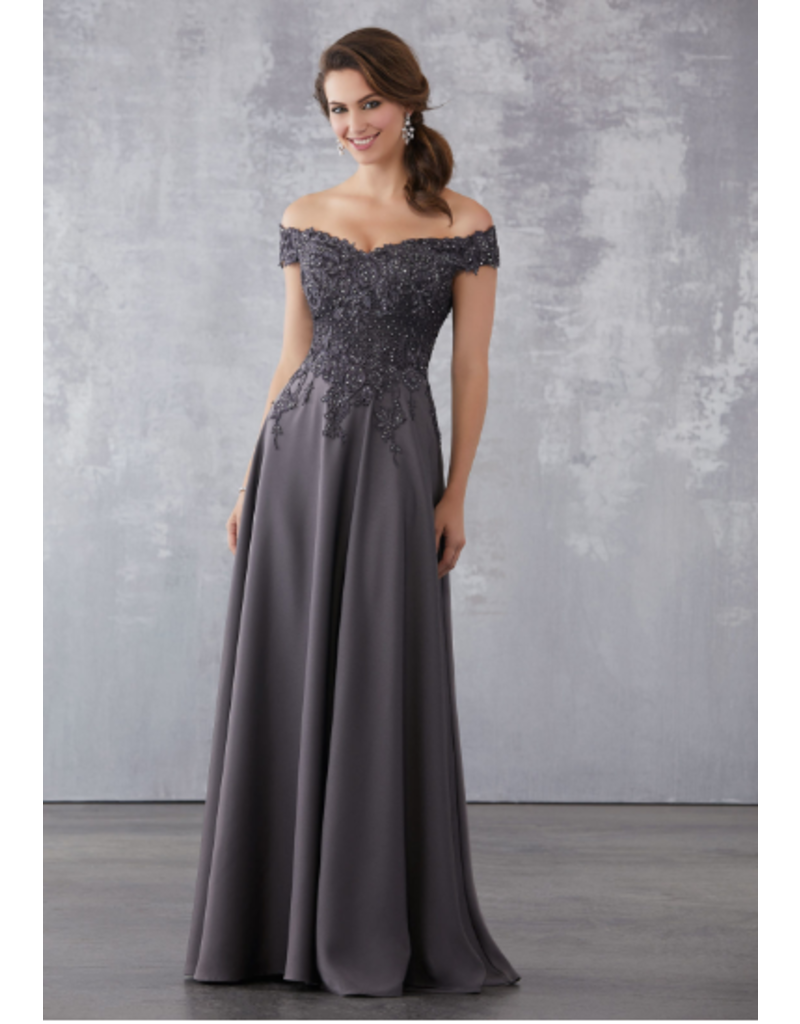 Mother of the Bride Mori Lee Mother of the Bride 71717, Color: Wine, Size: 8
