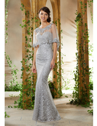 Mother of the Bride Mori Lee Mother of the Bride 71936, Color: Silver, Size: 10