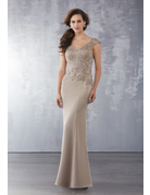 Mother of the Bride Mori Lee Mother of the Bride 71722, Color: Bronze, Size: 12