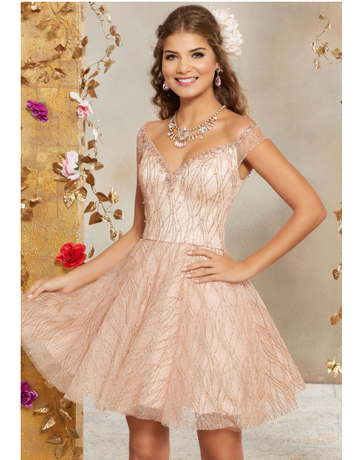 Mori Lee Mori Lee Damas 9510, Color: Rose Gold, Size: 10
