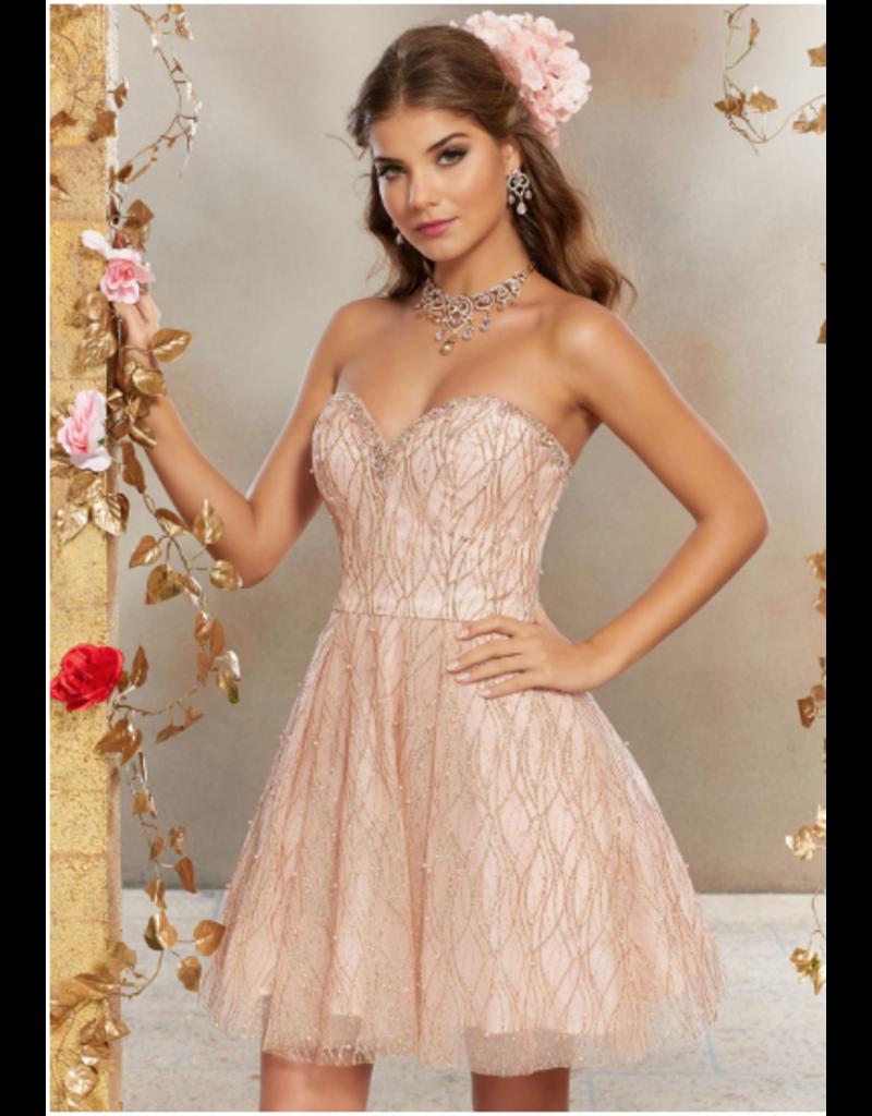 Damas Mori Lee Damas 9501, Color: Rose Gold, Size: 8