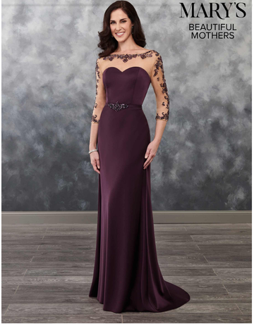 Beautiful Mothers Mary's Bridal Beautiful Mothers MB8026, Color: Eggplant, Size: 14