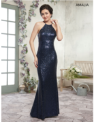 Amalia Mary's Bridal Amalia MB7001, Color: Black, Size: 2