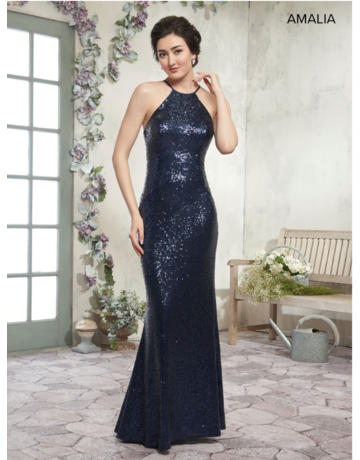 Amalia Mary's Bridal Amalia MB7001, Color: Dark Platinum, Size: 12