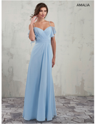 Amalia Mary's Bridal Amalia MB7010, Color: Light Blue, Size: 12