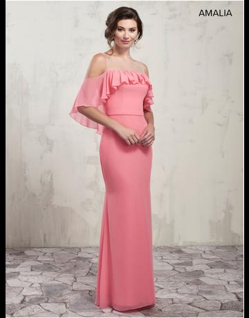 Amalia Mary's Bridal Amalia MB7016, Color: Flamingo, Size: 10