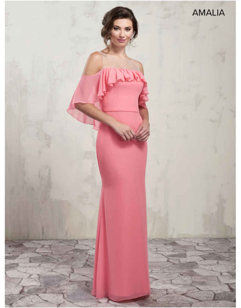 Amalia Mary's Bridal Amalia MB7016, Color: Flamingo, Size: 10
