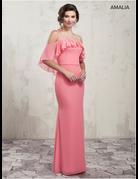 Amalia Mary's Bridal Amalia MB7016, Color: Flamingo, Size: 16