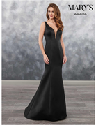 Amalia Mary's Bridal Amalia MB7033, Color: Dark Navy, Size: 8