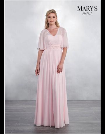 Amalia Mary's Bridal Amalia MB7036, Color: Pink, Size: 6