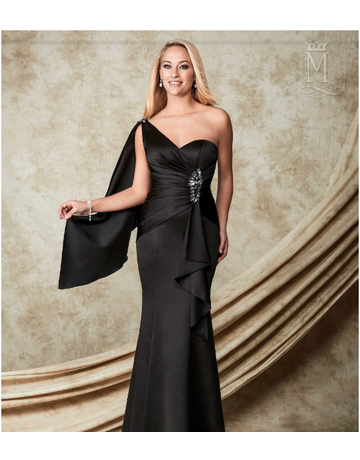 Amalia Mary's Bridal Amalia M1506, Color: Black, Size: 4