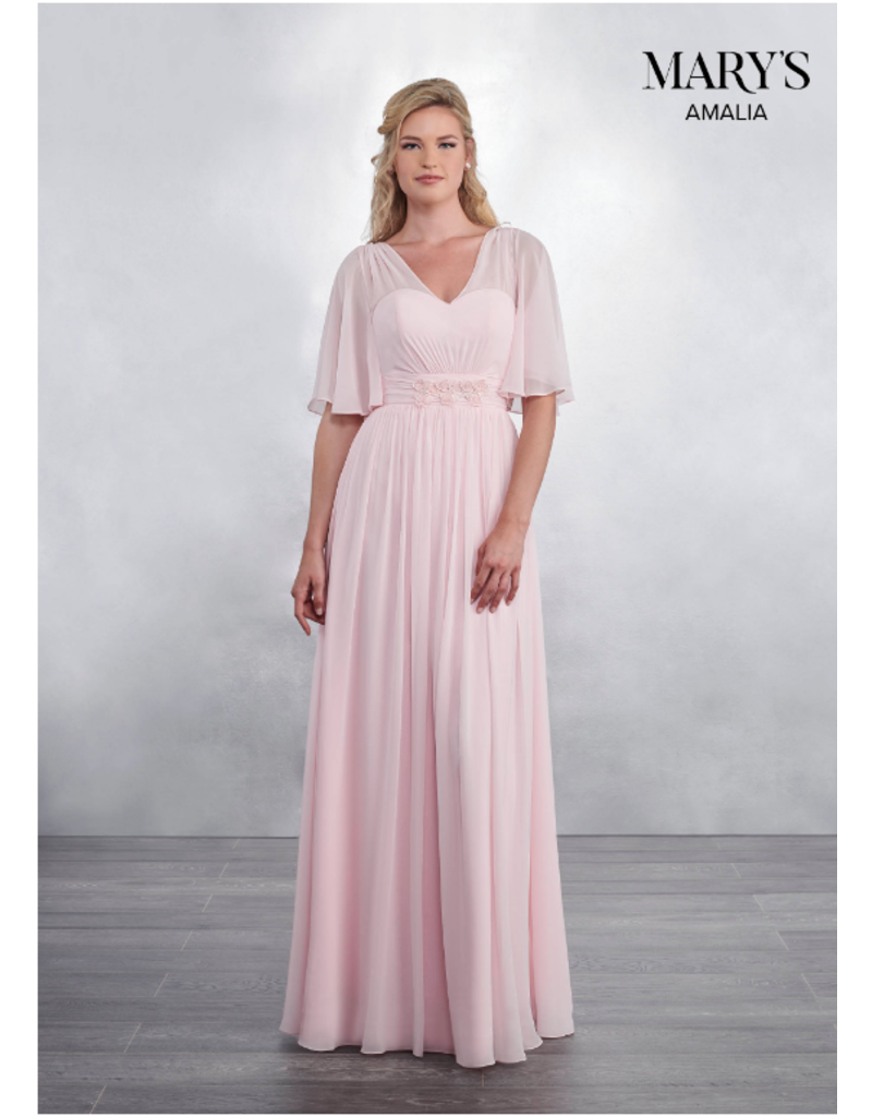 Amalia Mary's Bridal Amalia MB7036, Color: Pink, Size: 14