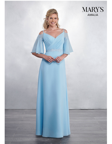 Amalia Mary's Bridal Amalia MB7048, Color: Light Blue, Size: 6