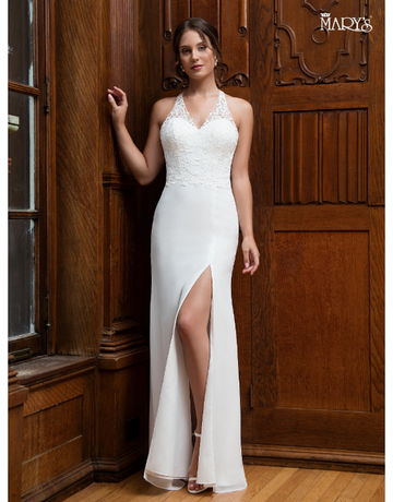 Mary's Mary's Bridal Mary's MB1006, Color: White, Size: 14