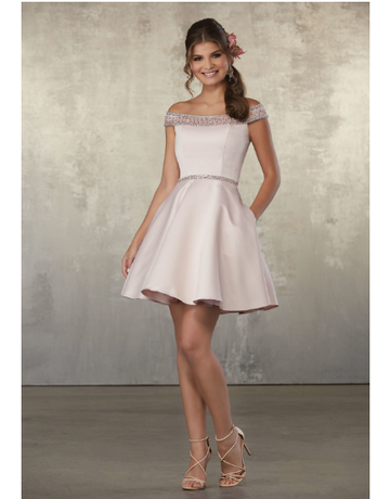 Damas Mori Lee Damas 9474, Color: Blush, Size: 8