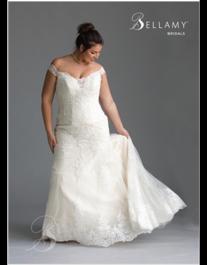 Bellamy Bridal Bellamy Bridal Bridal Gown 1905, Color: Ivory/Nude, Size: 16W