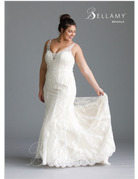 Bellamy Bridal Bellamy Bridal Bridal Gown 1903, Color: Ivory/Light Gold/Nude, Size: 18W