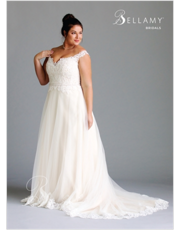 Bellamy Bridal Bellamy Bridal Bridal Gown 1915, Color: Ivory/Light Gold/Nude, Size: 20W
