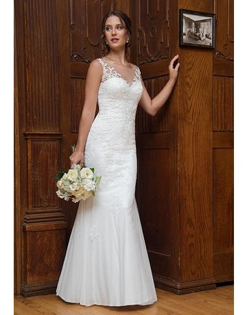 Mary's Bridal Mary's Bridal Mary's Bridal MB1004, Color: White, Size: 10