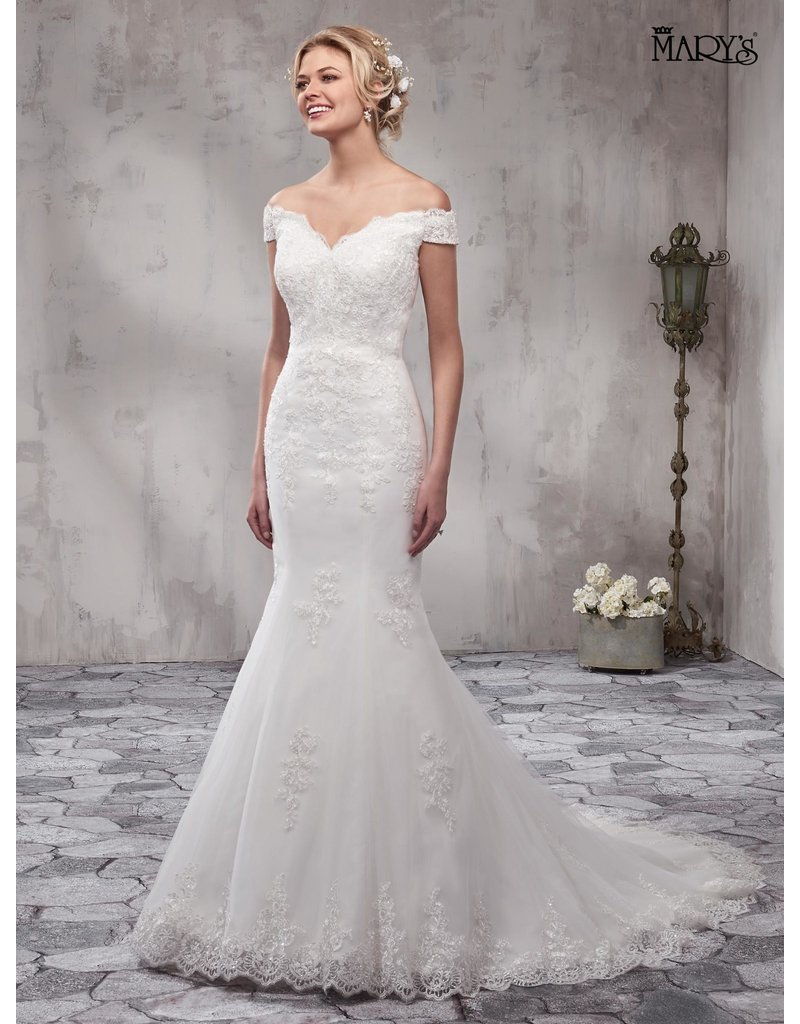 Mary's Bridal Mary's Bridal Mary's Bridal MB3003, Color: White, Size: 8