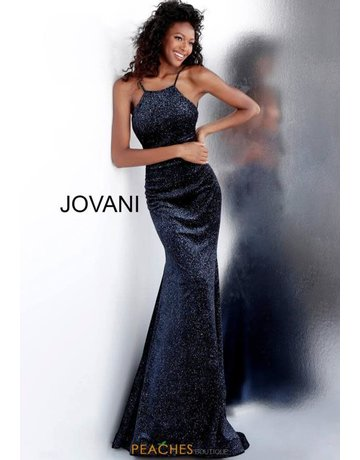 Jovani Jovani 62806, Color: Black/Blue, Size: 10
