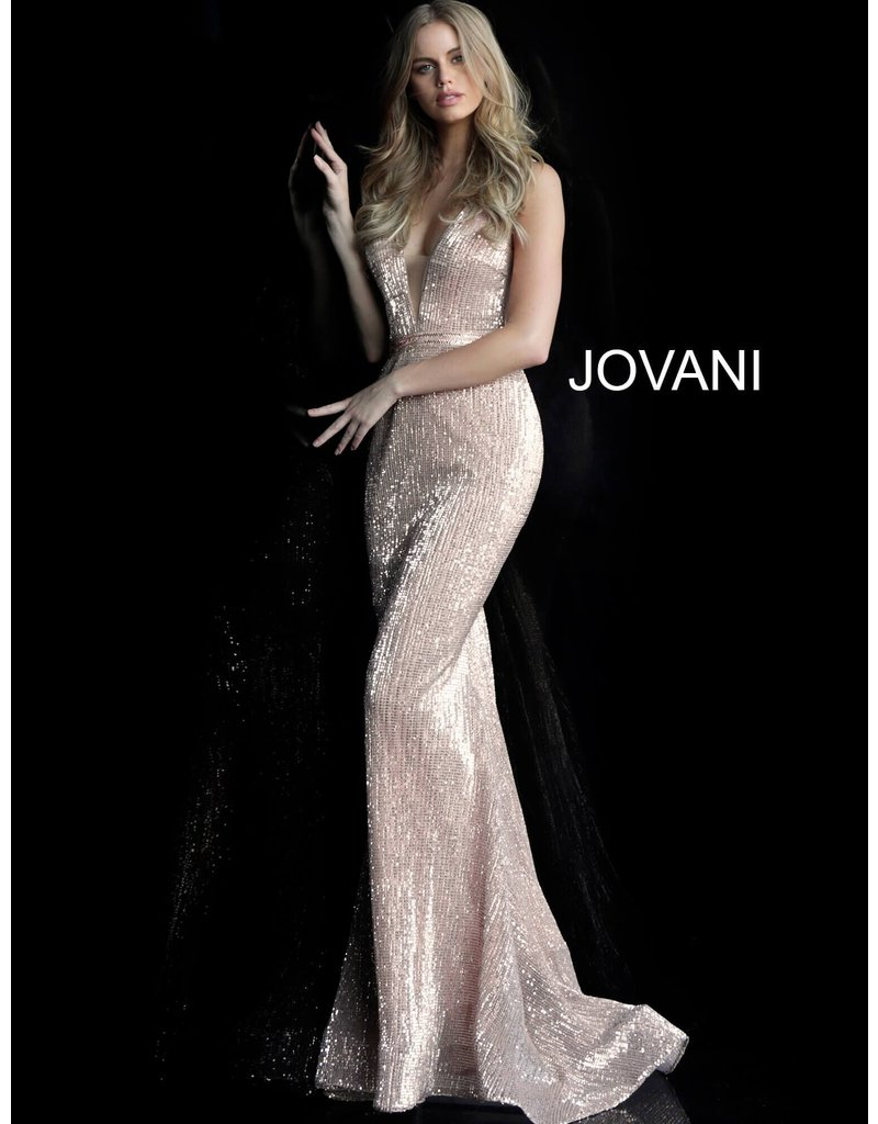 Jovani Jovani 62507, Color: Champagne, Size: 10
