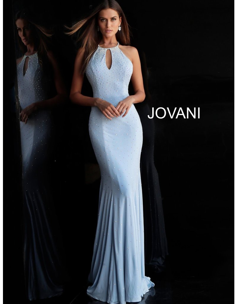 Jovani Jovani 67101, Color: Light Blue, Size: 12