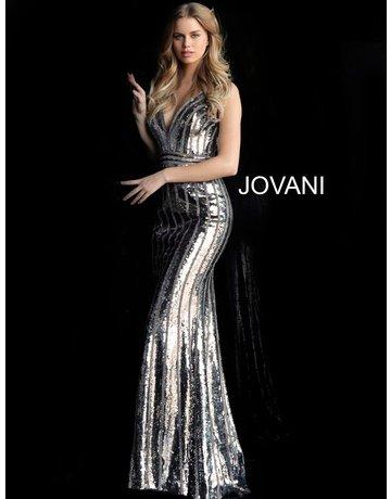 Jovani Jovani 64159, Color: Gun Metal, Size: 8