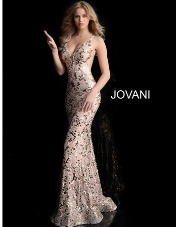 Jovani Jovani 65570, Color: Blush, Size: 12