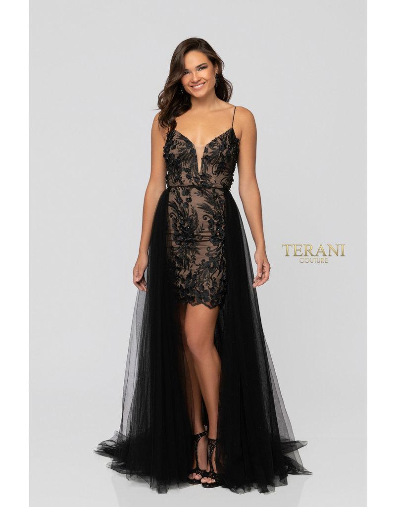 Terani Couture Terani Couture 1913P8041, Color: Black/Nude, Size: 10