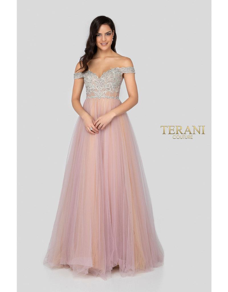 Terani Couture Terani Couture 1911P8120, Color: Lilac, Size: 12
