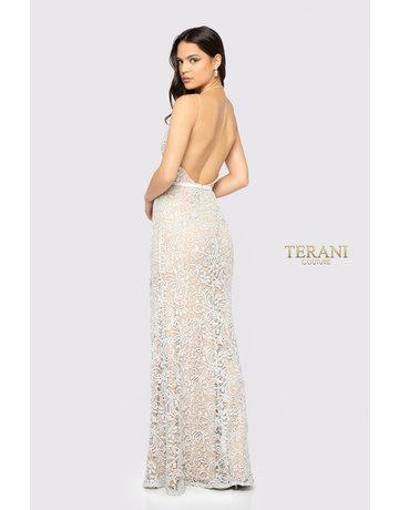 Terani Couture Terani Couture 1912P8270, Color: Silver, Size: 8