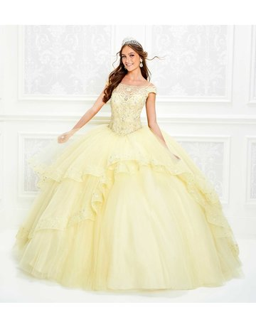 Princessa Ariana Vara Princesa 11926, Color: Light Yellow, Size: 10