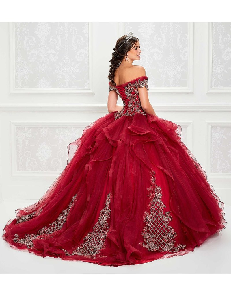 Princessa Ariana Vara Princesa 11934, Color: Wine/Gold, Size: 14