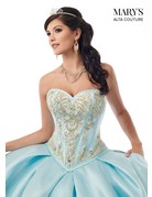 Mary's Quince Mary's Bridal Mary's Quince MQ3020, Color: Royal/Gold, Size: 10