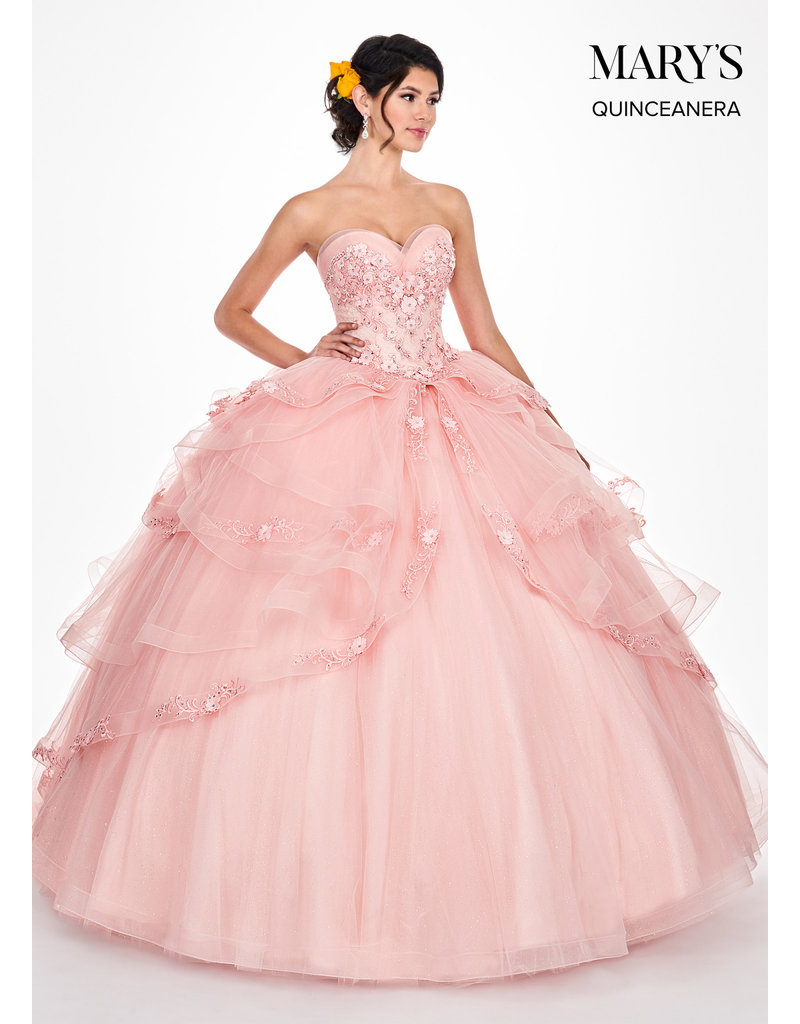 Mary's Quince Mary's Bridal Mary's Quince MQ2046, Color: Deep Blush, Size: 12