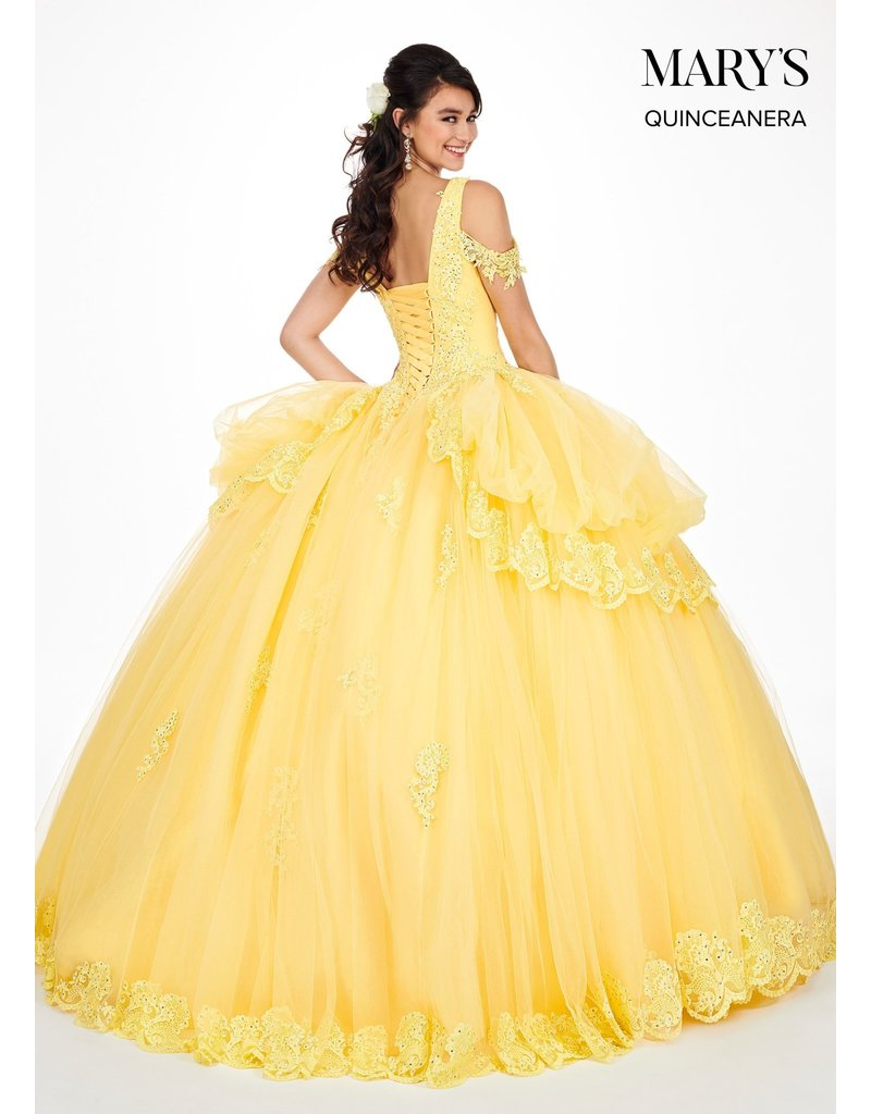 Mary's Quince Mary's Bridal Mary's Quince MQ2051, Color: Yellow , Size: 12