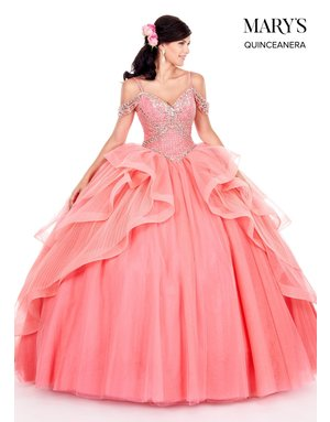 Mary's Quince Mary's Bridal Mary's Quince MQ2053, Color: Watermelon, Size: 12