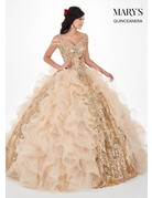 Mary's Quince Mary's Bridal Mary's Quince MQ2065, Color: Silver, Size: 12