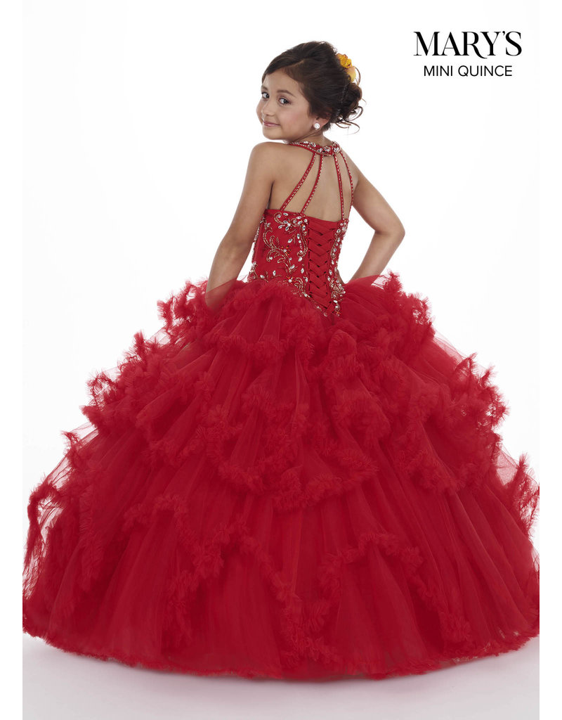 Mary's Angels Mary's Bridal Mary's Quince MQ4008, Color: Red, Size: 10